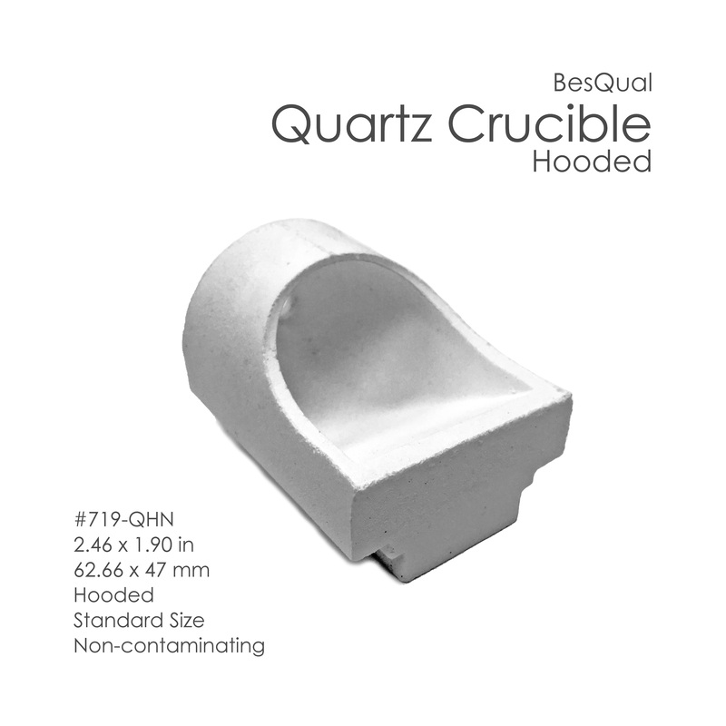 quartz crucible Quartz material offers low expansion, excellent dimensional stability, and thermal  shock resistance withstand temperatures up to 1922°f (1050°c) crucible.